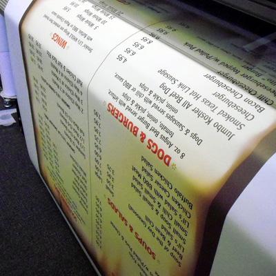 Large Format Menu Printing