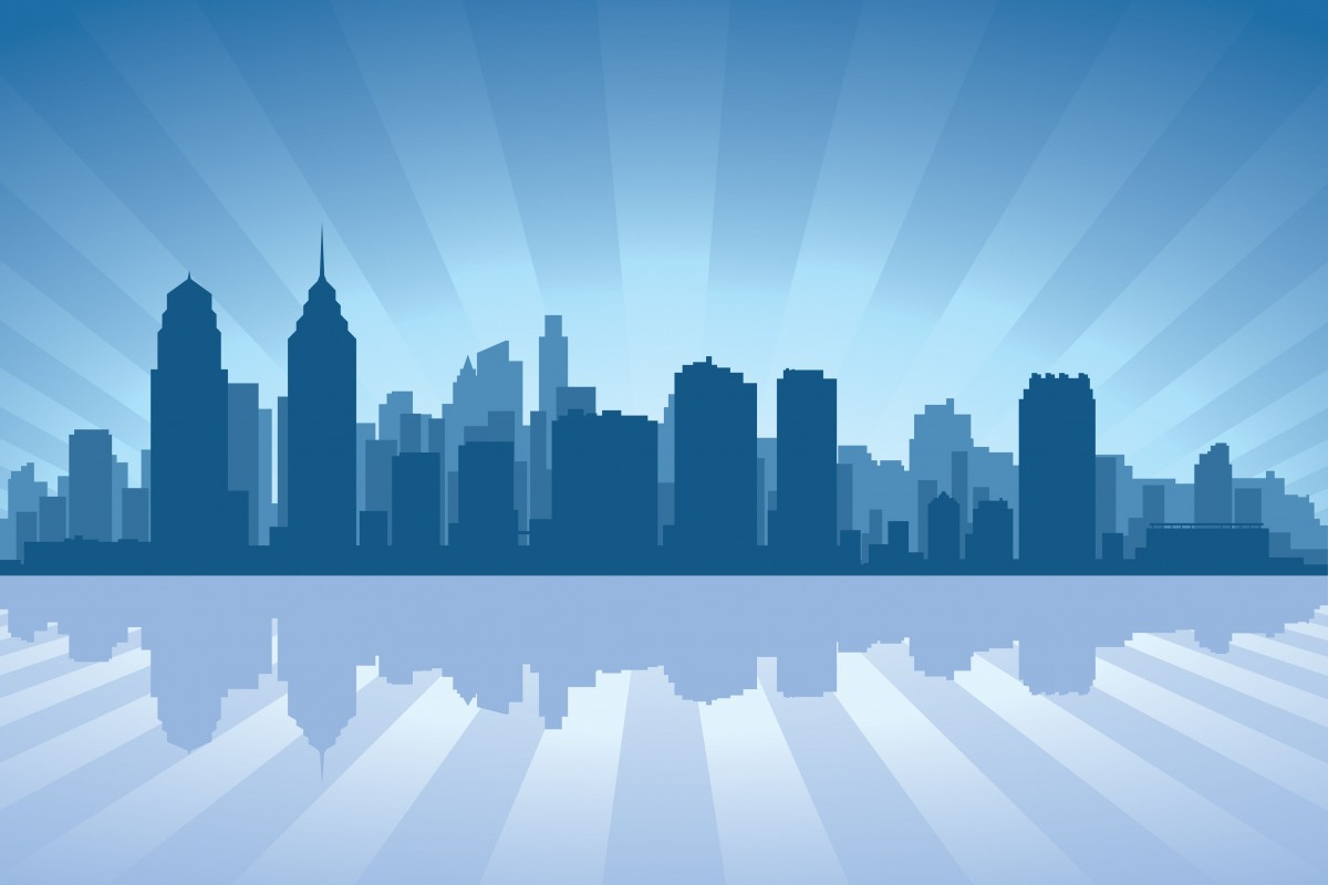 vector of philly skyline