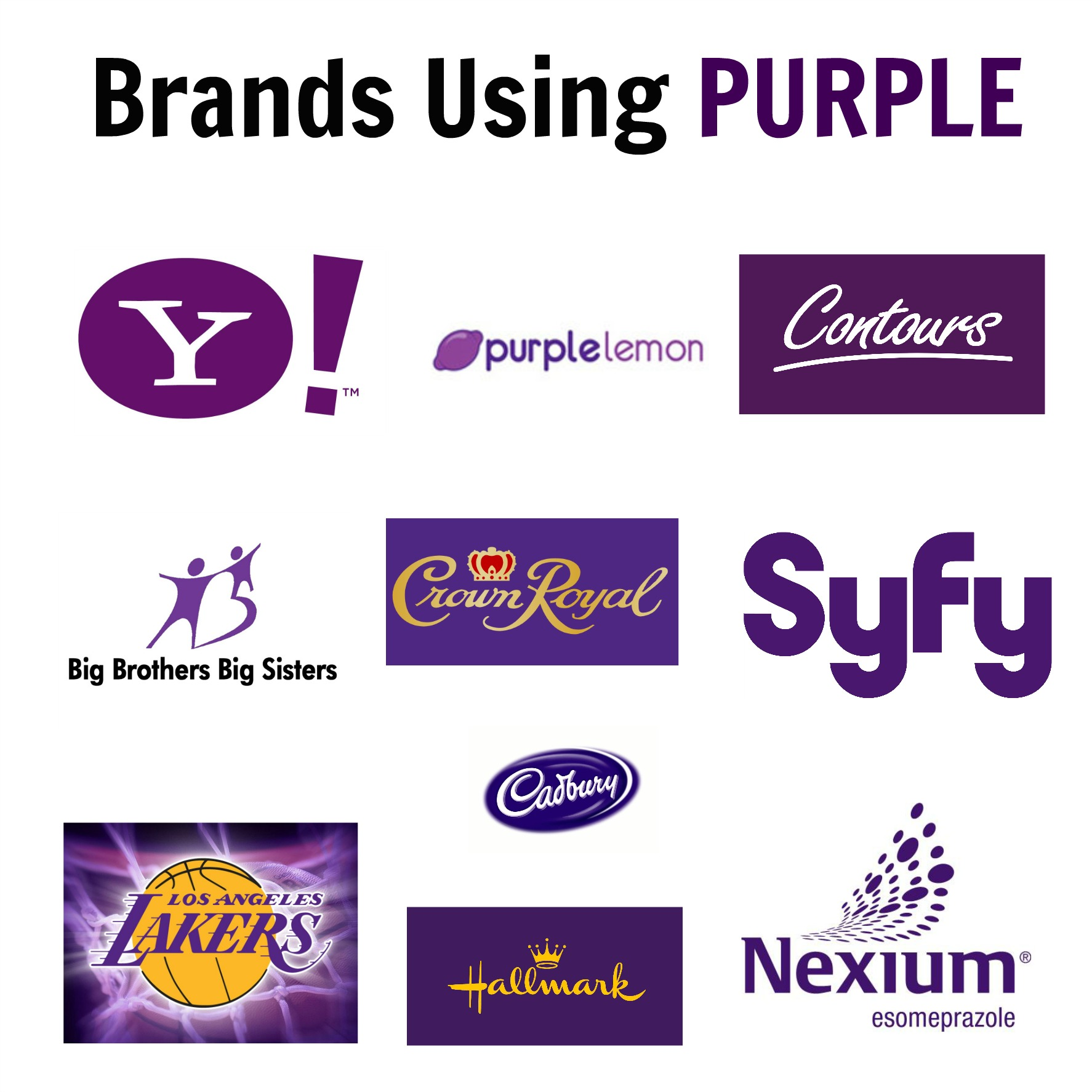 brands using purple