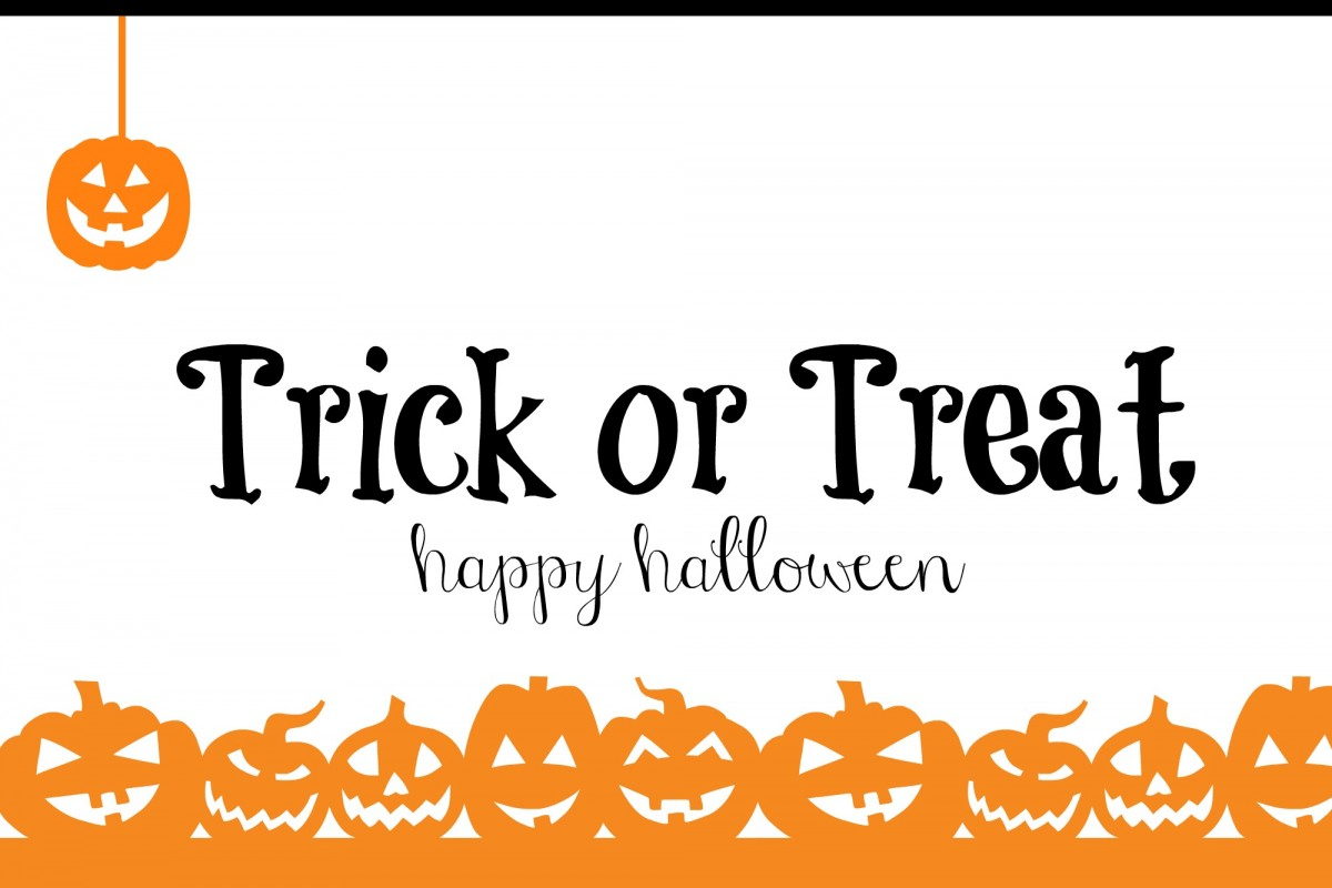 Trick or treat Custom Cut out